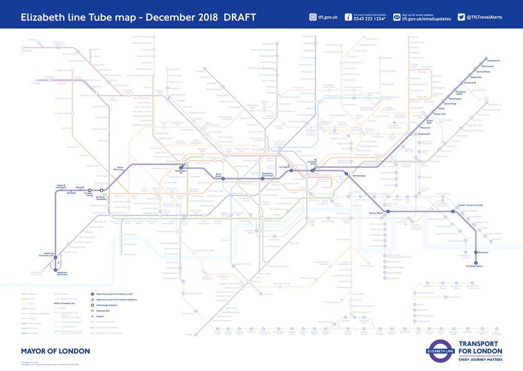 tube map with elizabeth line pdf